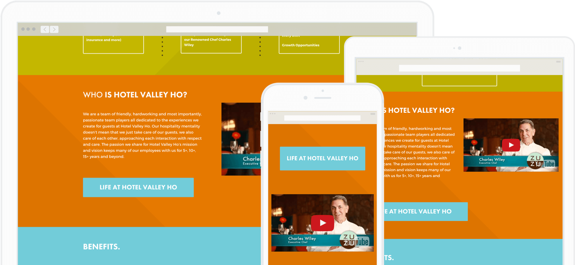 Example of a mobile responsive career site